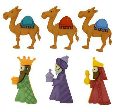 Dress it Up Buttons - We Three Kings