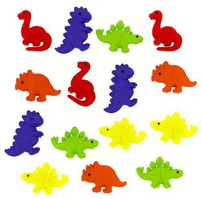Dress it Up Buttons - Tiny dinos