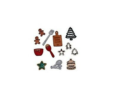 Dress it Up Buttons - Christmas Cookies