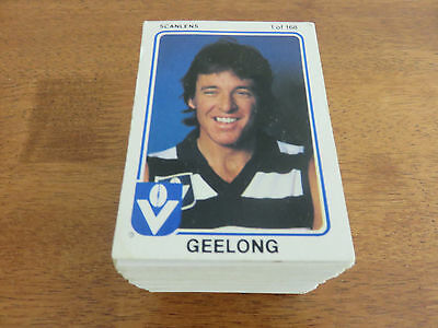 1981 Scanlens Vfl Cards. Complete Set. Near Mint Condition.