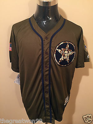 MLB Houston Astros #27 MED Memorial Day Cool Base Jersey by Majestic