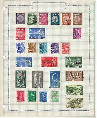 Israel - 37 stamps on 2 sheets - Used/MH