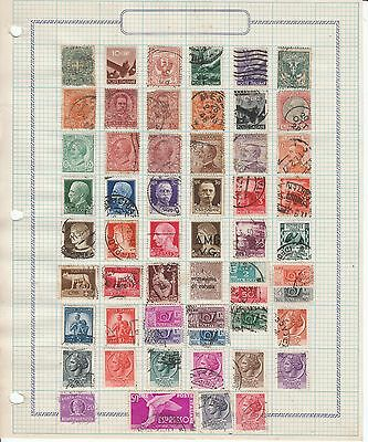 Italy - 60 stamps on 2 sheets - Used