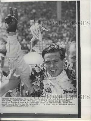 "1965 Press Photo Scotsman, Jim Clark, winner of the Indianapolis ""500"""