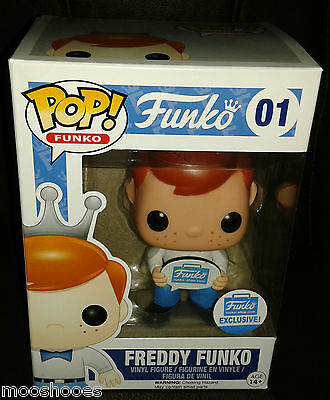 Funko Pop! Vinyl Bobblehead Freddy with Sign #01 USA Shop Exclusive *In Hand*