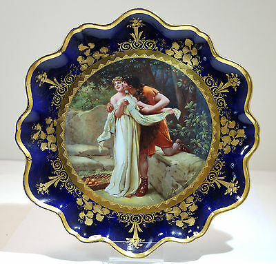 Royal Vienna Austrian Hand Painted Porcelain Charger Plate Circa 1900