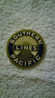 Southern Pacific Railroad Luggage Label