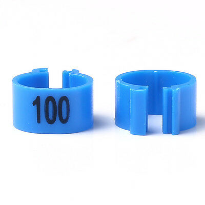 1-100 Numbered Poultry Leg Bands Bird Pigeon Parrot Chicks Rings 100pcs /