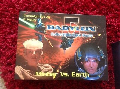 Babylon 5 Collectible Card Game Campaign Set 2 Minbar Vs Earth + 2 Booster Pack