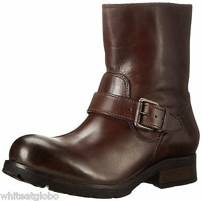 DIESEL Designer Brown Cowboy Western Boots Flats Shoes Leather Size 37 7