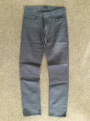H&M PANTS SLIM-FIT Mens Size 31 Blue with wax finish