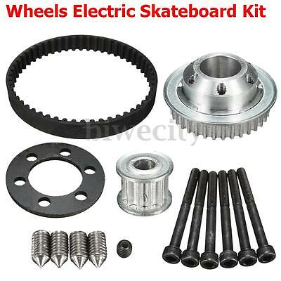 DIY Parts Pulleys No Motor Mount For 75/83MM Wheels Electric Skateboard Kit New