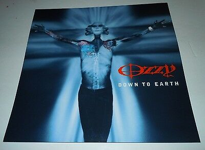 OZZY OSBOURNE~Down To Earth~Promo Poster Flat~Double Sided~12x12~NM~2001