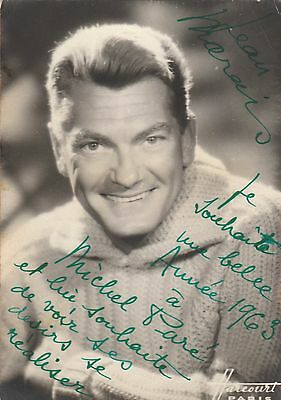 Autographe Original: JEAN MARAIS / Photo: Studio Harcourt Paris