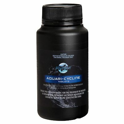 Blue Planet Aquaricycline Tabs 100 Pack Spectrum Antibiotic Fish Salt Water