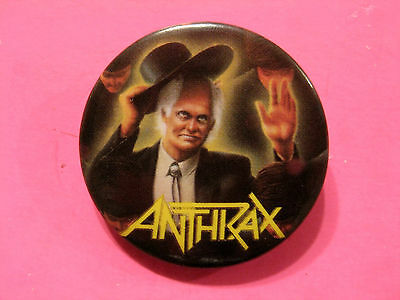 """Anthrax Vintage Button Badge Pin Uk Import """" Official 1987 """""""
