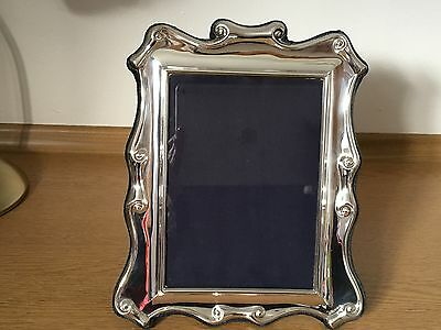 """Carrs Sterling silver photo frame 10"""" by8""""from Harrods 2001 photo size 7"""" by 5"""""""