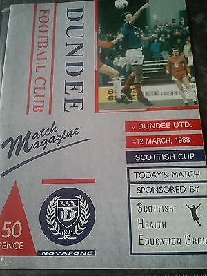 Dundee V Dundee United Scottish Cup 87/88