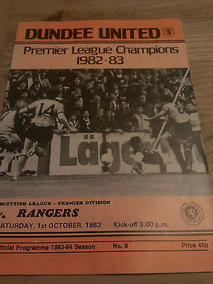 Dundee United V Old Rangers Oct 1983