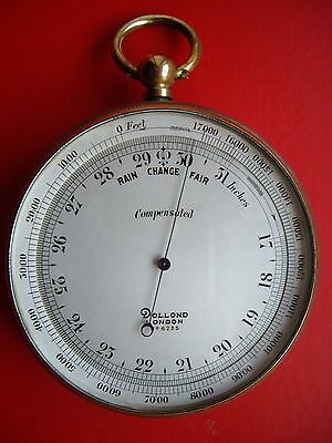 Superb Dollond, London, Pocket Barometer & Altimeter In Full Working Condition