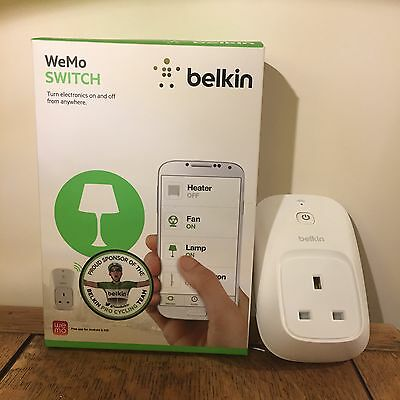 Belkin Wemo WiFi remote Switch works with Apple iPhone Android Amazon Echo IFTTT
