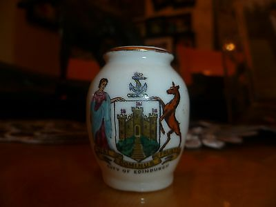 "WH GOSS Crested China Model of ""Ancient Urn"". Crest of ""City of Edinburgh"""