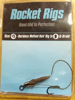 Rocket Rigs Method Hair Rigs, All Sizes Available.