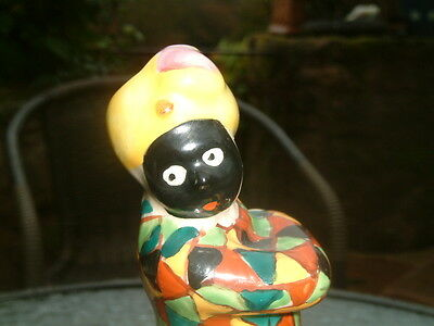 Nice Vintage Black  Harlequin Figure Pottery Ornament Figure