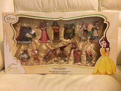 *BNIB* Disney Store Beauty And The Beast Limited Edition Deluxe Ornament Set