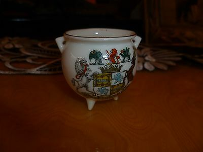 "GOSS Crested China Model of ""Ancient Irish Bronze Pot"". ""Marquis of Bute"" crest"