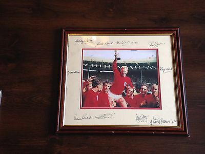 Signed England 1966 Photo By 10 Of The Squad