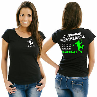Geschenk Handball Damenshirt Girlieshirt Trikot Damen T-Shirt Training WM EM 30