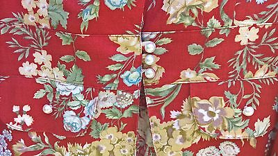 Georgeous Linen Jacket Red Floral as new size 8