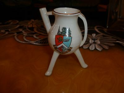 "WH GOSS Crested China Model of Ancient Bronze Kettle. Crest of ""Margate"""