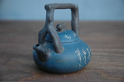 Antique Vintage Chinese (?) Teracotta Clay Pottery Small Teapot - Japanese (?)