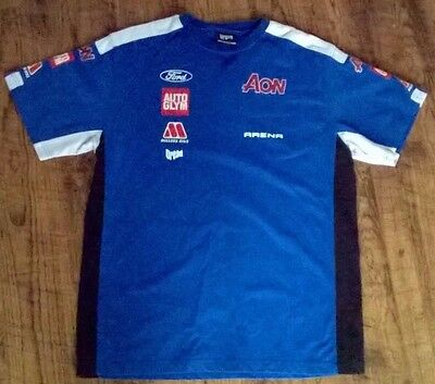 AON Ford Racing Team T-Shirt Size EXTRA LARGE AUTO GLYM DREAD FREE UK POSTAGE