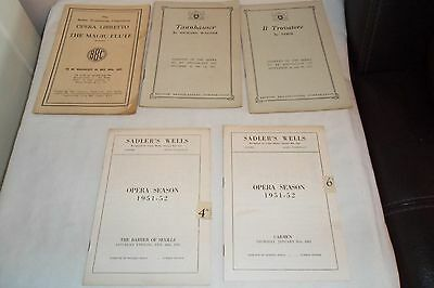 Selection of BBC Opera Promgrammes and Sadlers Well Threate Programmes