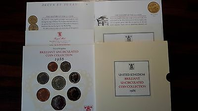 1986 Brilliant Uncirculated Coin Collection Year Set