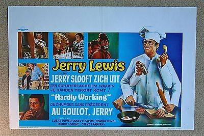 4.99 $ SALE Hardly Working Jerry Lewis Rare VINTAGE ORIGINAL Belgian poster