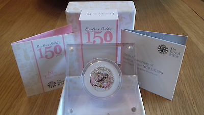 Beatrix Potter 150th Anniversary Mrs Tiggywinkle Proof 50p coin.