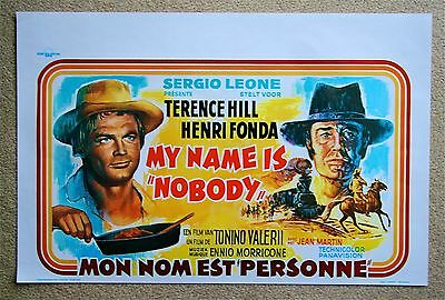 4.99 $ SALE My name is Nobody Terence Hill VINTAGE ORIGINAL Belgian movie poster