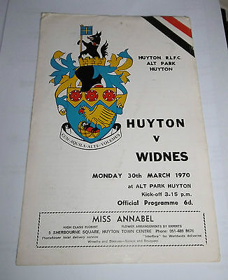 Huyton v Widnes 30th March 1970 League Match @ Naughton Park not Alt Park Huyton