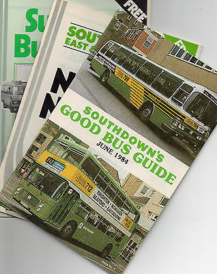 Southdown timetable books & Guide x 3