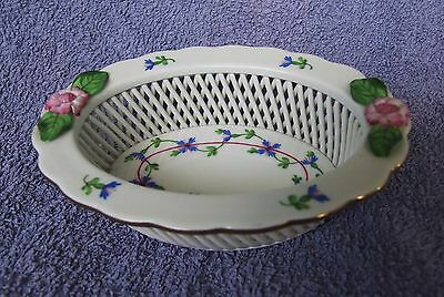 BEAUTIFUL HEREND SMALL PIERCED DISH! (Repaired)