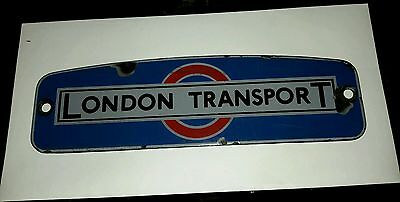 London Transport RTL/W enamel bus radiator badge.