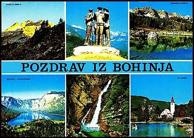 Postcard - Pozdrav Iz Bohinja  - Slovenija  6 Views Posted 1989 Stamped