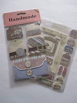 Craft toppers suitable for cards and scrapbooking - mixed lot - BRAND NEW