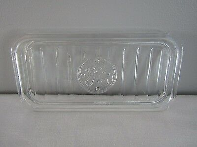 Vintage GE General Electric Refrigerator Fridge Dish Clear Glass Lid Only