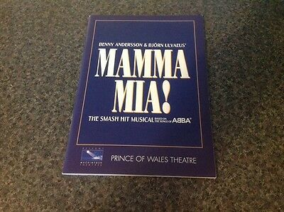 Mamma Mia Musical Programme Prince Of Wales Theatre