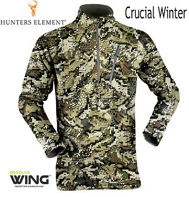 Hunters Element Mens hunting Crucial Winter Furnace WING Camo L/sleeve shirt